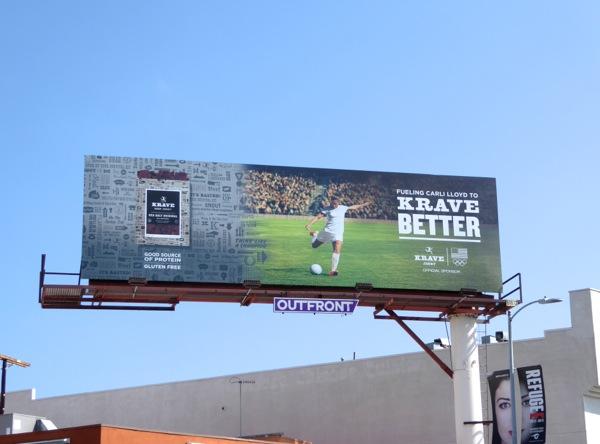 Krave Better Jerky Carli Lloyd Olympics soccer billboard