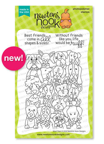 Woof Pack Stamp Set by Newton's Nook Designs #newtonsnook