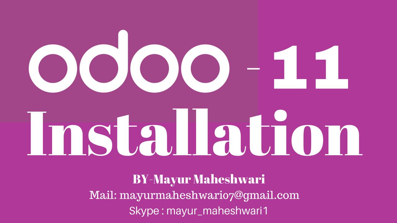 Mayur Maheshwari - Techno-Functional Consultant Odoo (OpenERP): Odoo