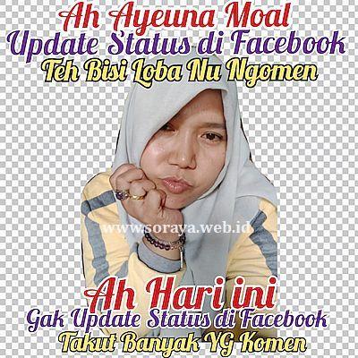 stiker bahasa sunda lucu wanita berjilbab update status di facebook