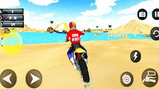 Beach Water Surfer Dirt Bike