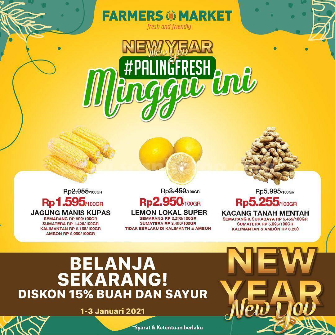 Farmers Market Promo Produk Fresh! Diskon 15% Buah & Sayur*