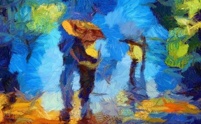 José e Maria; por Abdias Campos