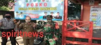 Cegah Covid-19, Tiga Pilar Balla Ewako Kelurahan Mangadu Bersinergi Melayani Masyarakat
