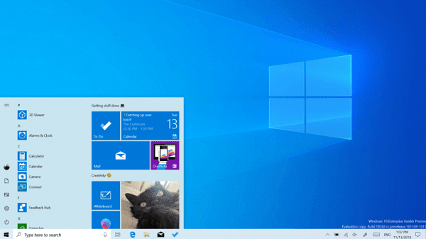 مايكروسوفت تضيف وضع 'Light Mode' الى Windows 10