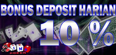Imopoker - Promo Bonus Deposit Harian 10%