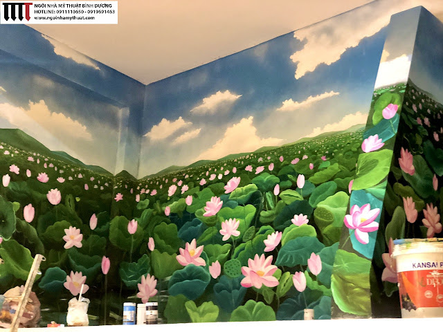 Vẽ tranh tường đẹp tại Bình Dương
