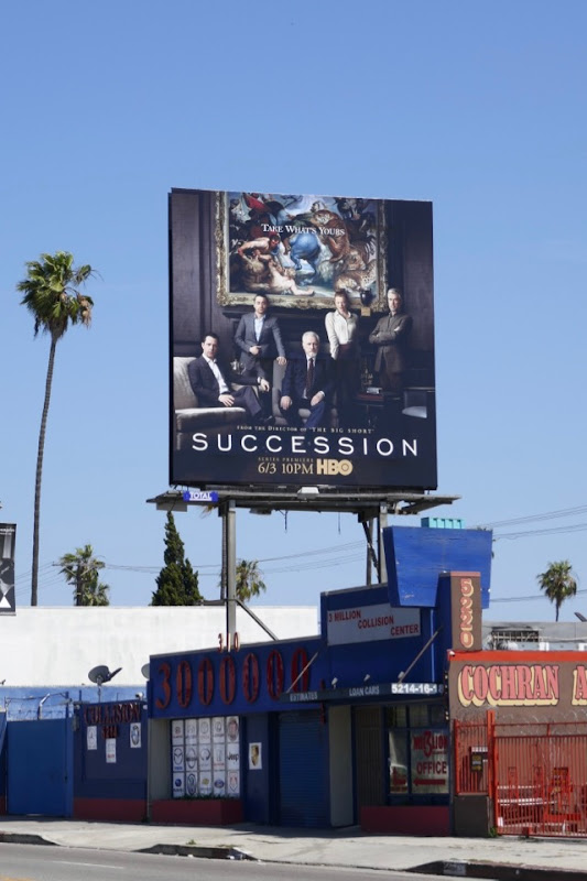 Succession HBO series billboard