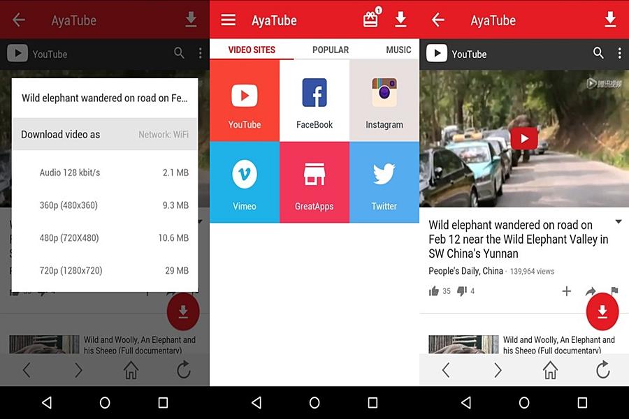 تحميل برنامج اياتيوب AyaTube Video Downloader للاندرويد