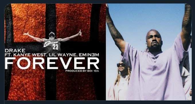 """After hearing Eminem's verse on Drake's 2009 hit """"Forever"""" Kanye West went back and took two days to rewrite his."""