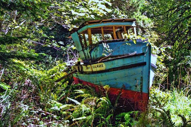 The blue boat on Galiano Island...