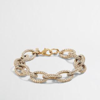 J. Crew Factory Gold & Crystal Link Bracelet $7 (reg $30)!