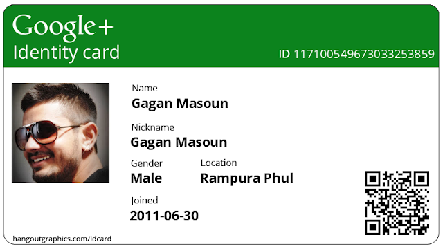 Google Plus ID Card