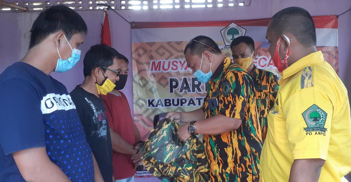 Ketua AMPG Lampura Lantik Pengurus Dua Kecamatan