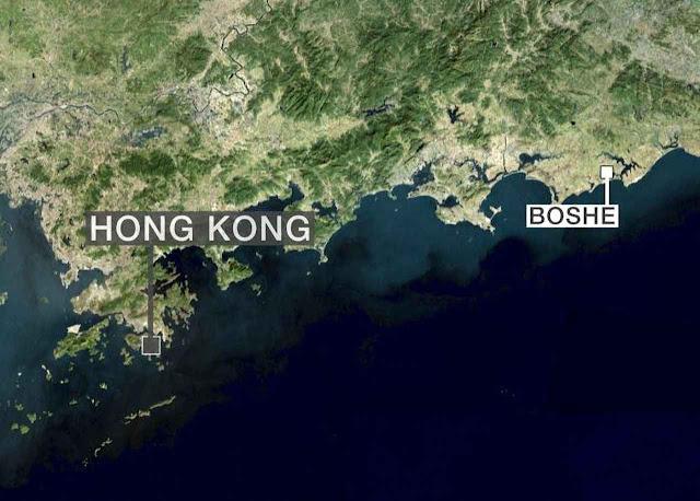 A central está perto de Hong Kong para escoar a droga para o exterior.