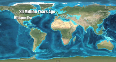 Paleo mapa del Mioceno