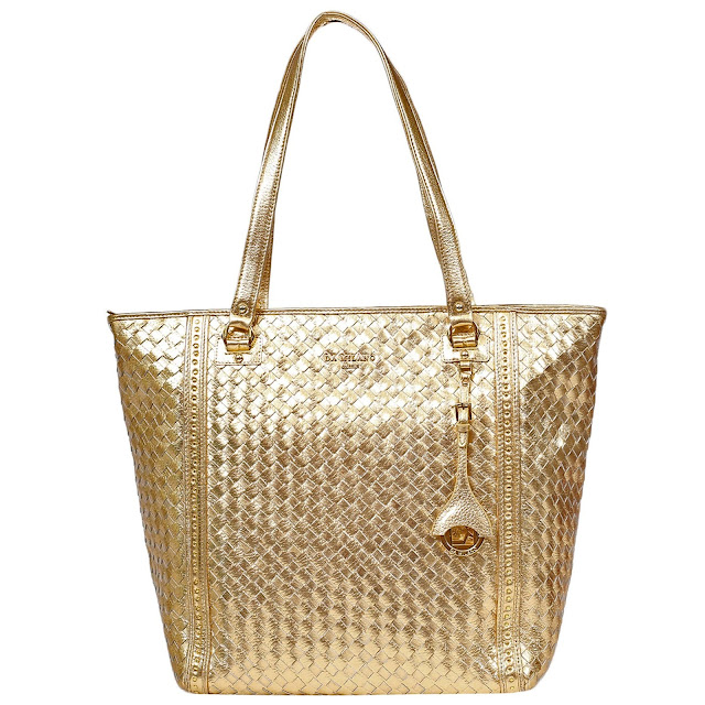 Golden Handbag from Da Milano Rs 13,999-
