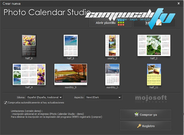 Photo Calendar Studio 2014 Español
