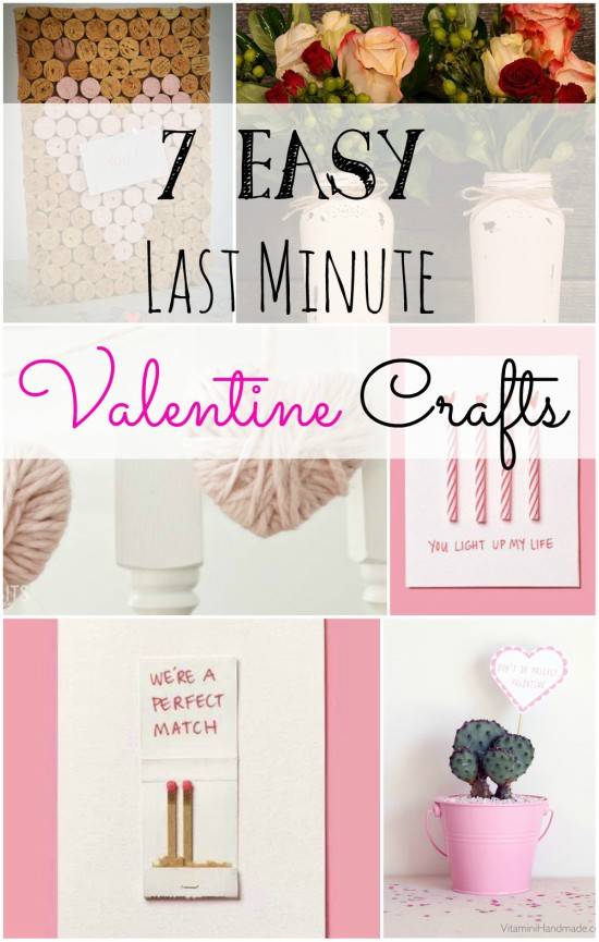 last minute Valentine crafts