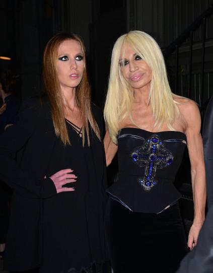 Donatella Versace and her daughter