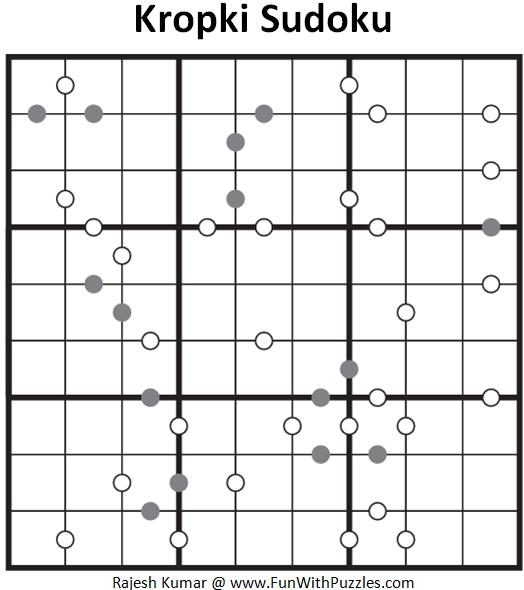 Kropki Sudoku (Fun With Sudoku #90)