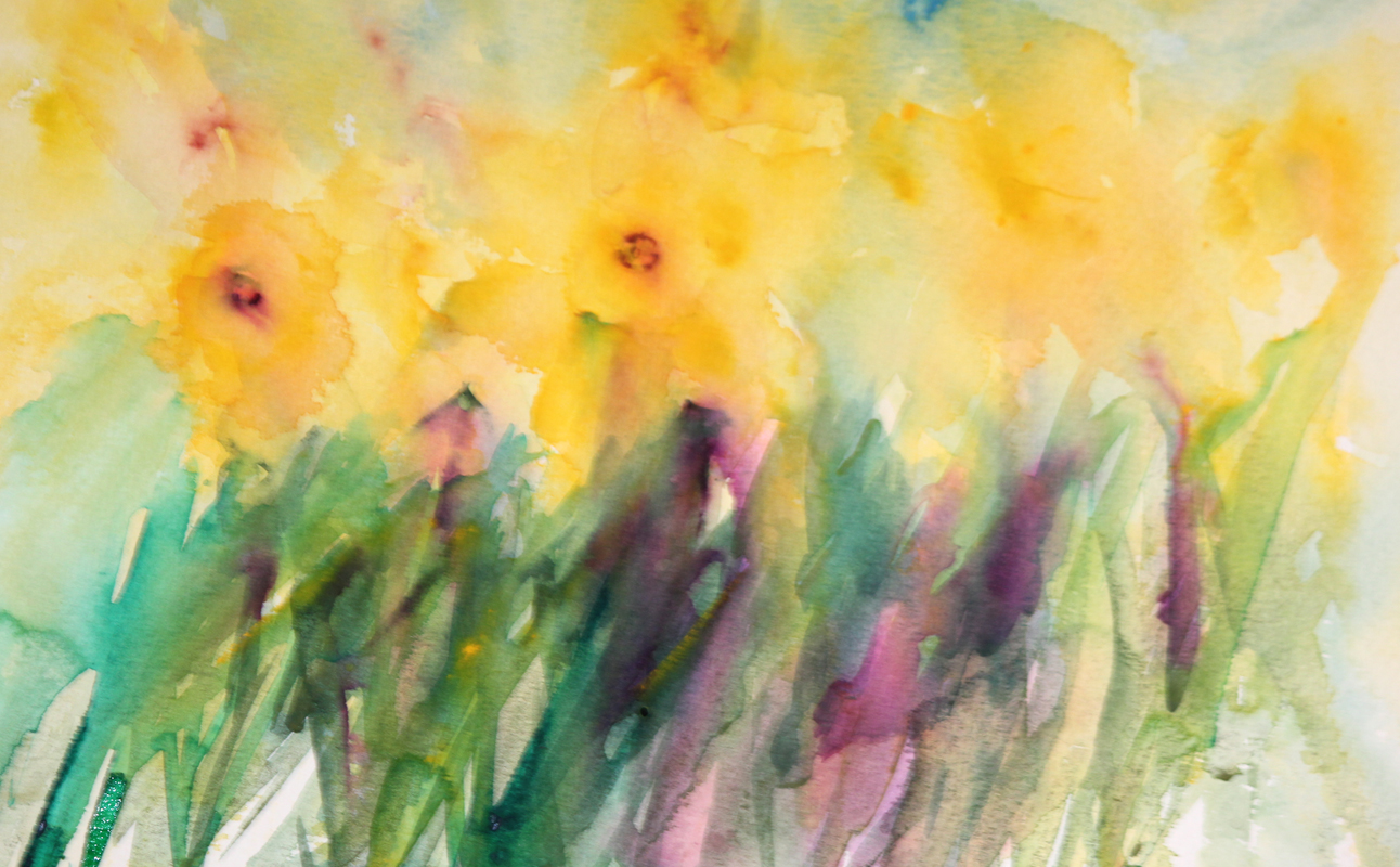 Watercolours With Life: Daffodils in Watercolour 2016