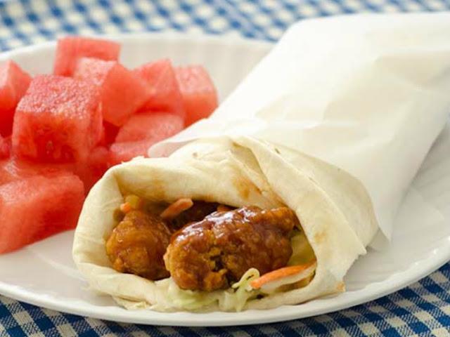 Honey BBQ Chicken Wraps #wraps #lunch
