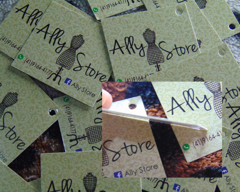 Tags de roupa Gráfica Papira - Ally Store