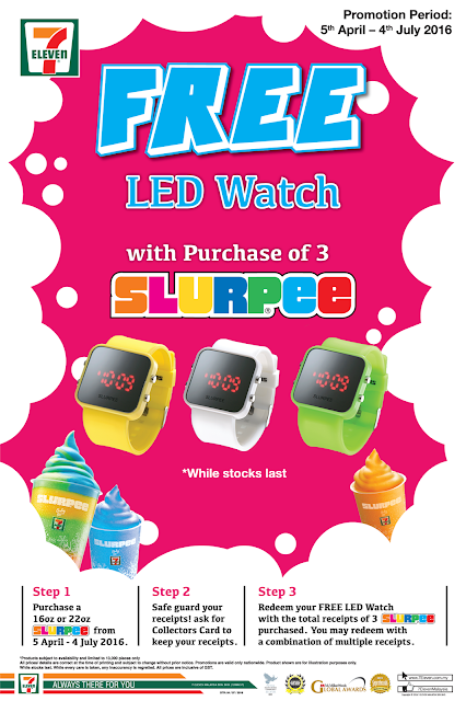 7 Eleven Purchase 3 Slurpee Free LED Watch