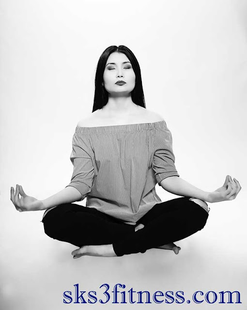 A girl doing Meditation in Prithvi Mudra / Psychic gesture of earth for Meditation,Healing Process.