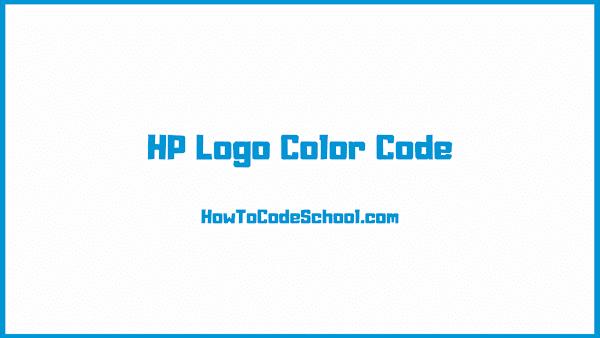 HP Logo Color Code