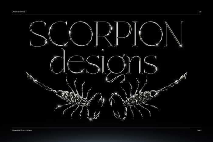 Scorpion Desgin Text Effect PSD Mockup