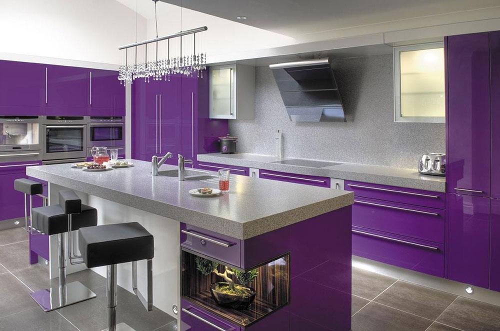 30 Fotos cozinhas roxo e prpura  Decorao e Ideias