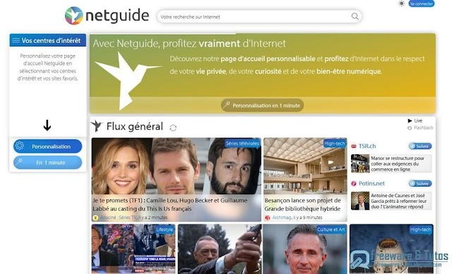 Netguide : votre page d'accueil personnalisée et enrichie