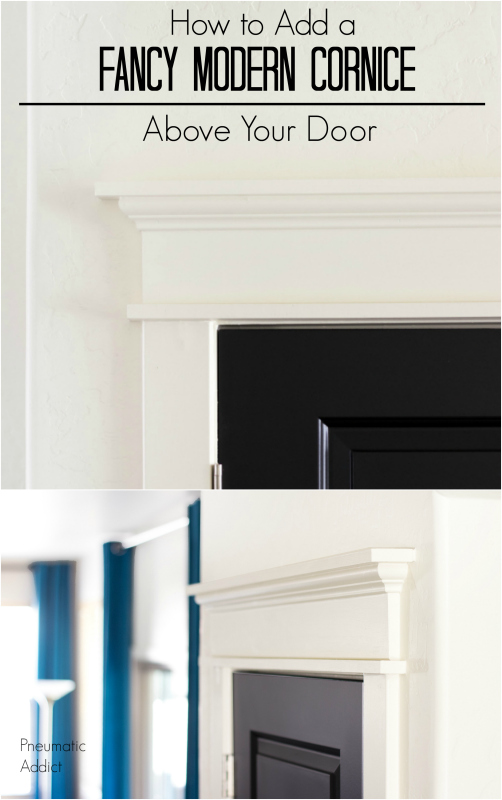 diy replace fancy header cornice trim moulding molding door casing
