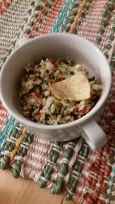Cabbage Salsa, crunchy and delicious!