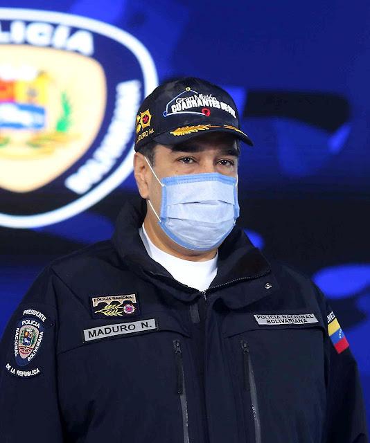 Maduro preside reunião da Policía Nacional Bolivariana