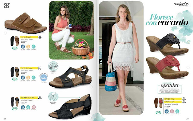Catalogo Andrea zapatos confort  primavera -2016 : mexico