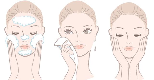 desenho-mulher-lavando-rosto-limpando