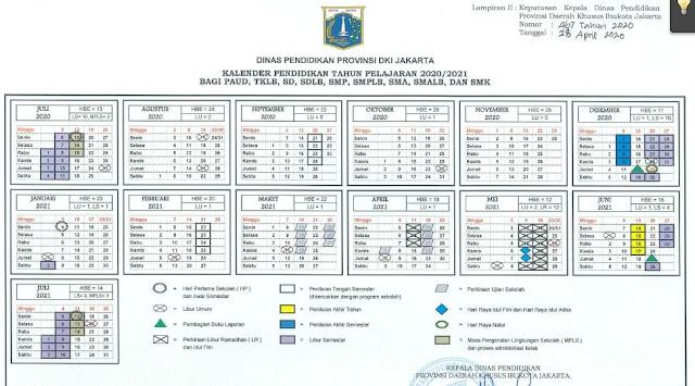 Kalender Pendidikan Tahun 2020/2021 DKI Jakarta