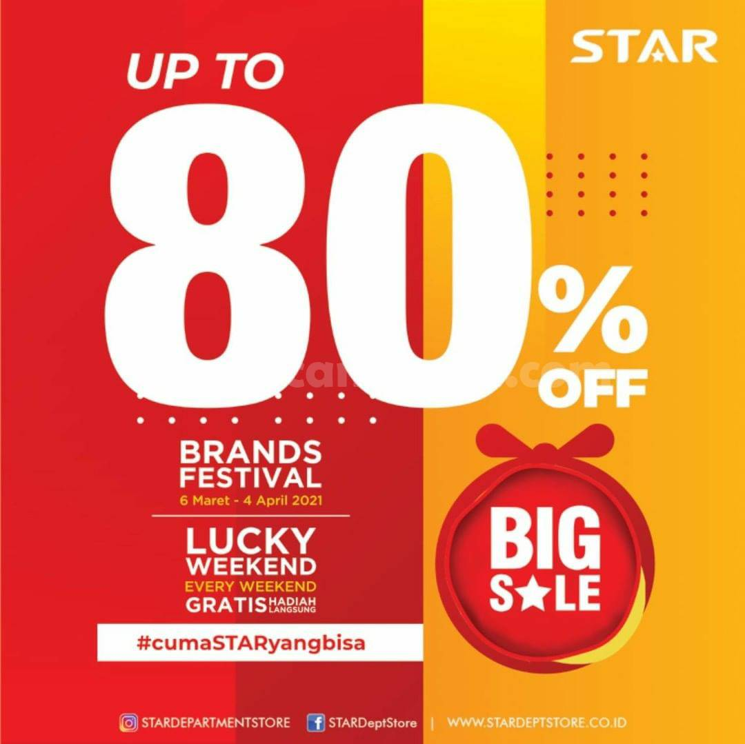 STAR Department Store SALE BRANDS FESTIVAL UP TO 80%!