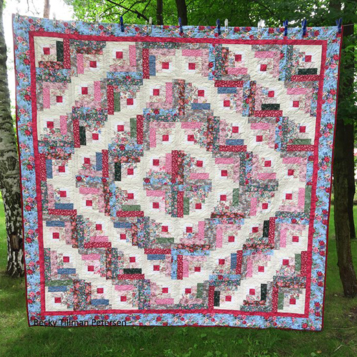 Rachael's Garden Quilt Designed by Becky Petersen of Quilted Twins