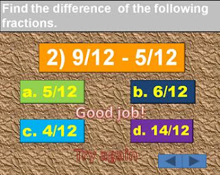 Interactive Powerpoint:  Addition and Subtraction of Similar Fractions