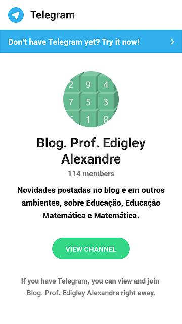 Canal Prof. Edigley Alexandre no Telegram