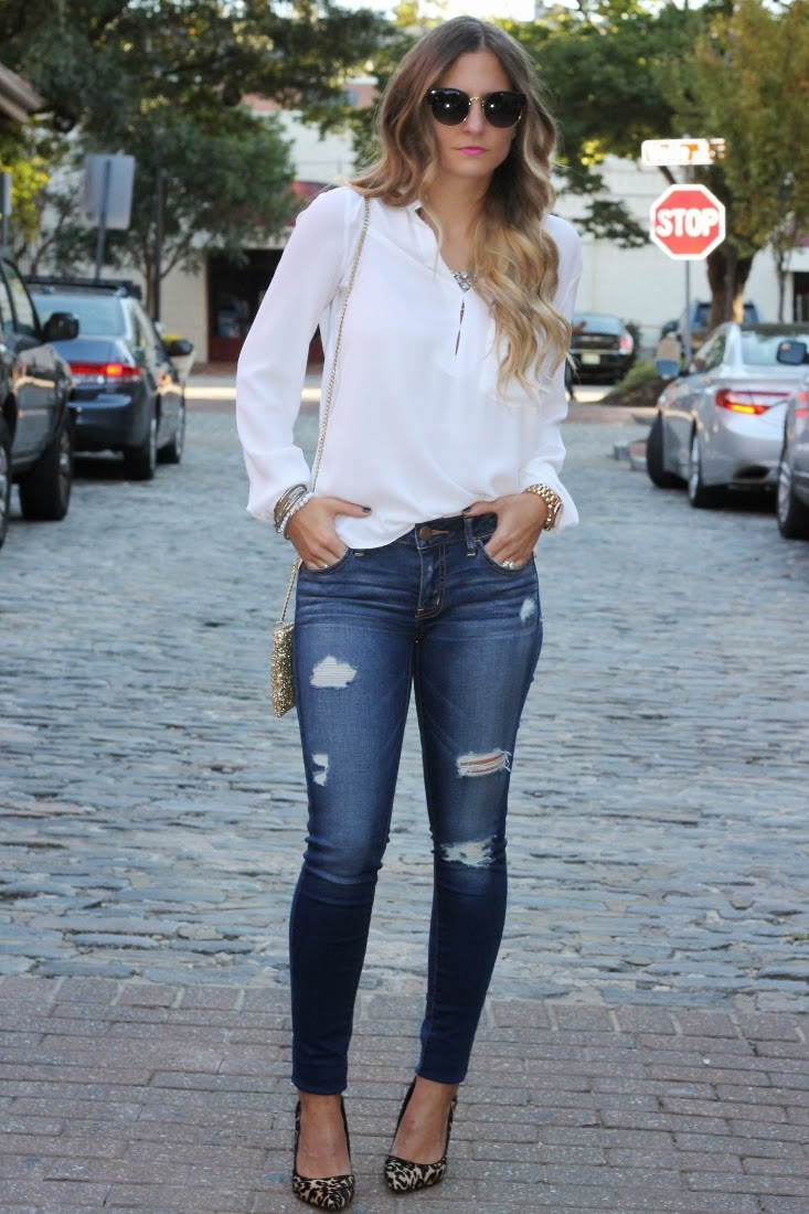 b01df0598b Bedazzles After Dark  Outfit Post  Date Night Distressed Denim