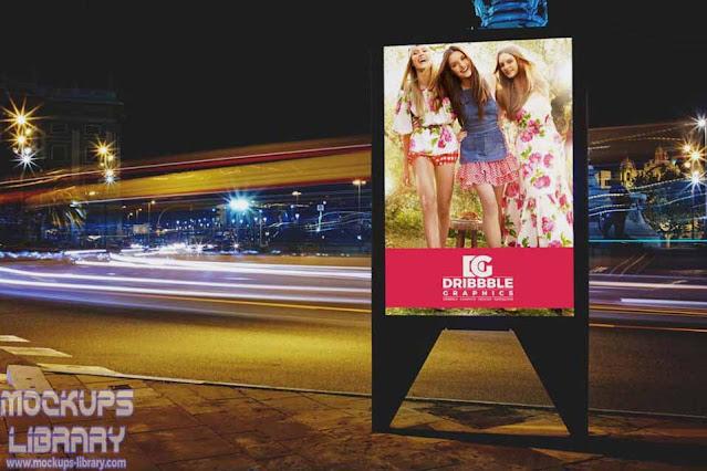 roadside billboard mockup psd