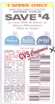 aleve $4 off coupon ss insert