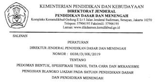 Juknis Pengisian Blangko Ijazah Satuan Pendidikan Tahun 2019 wiwapedia.com
