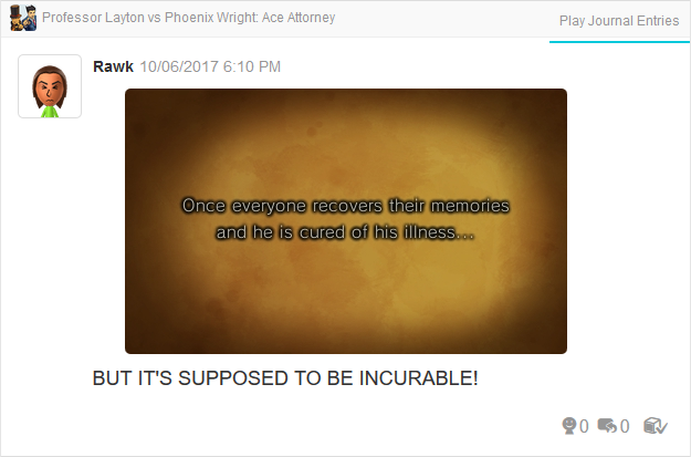 Professor Layton vs. Phoenix Wright Ace Attorney cured of incurable illness