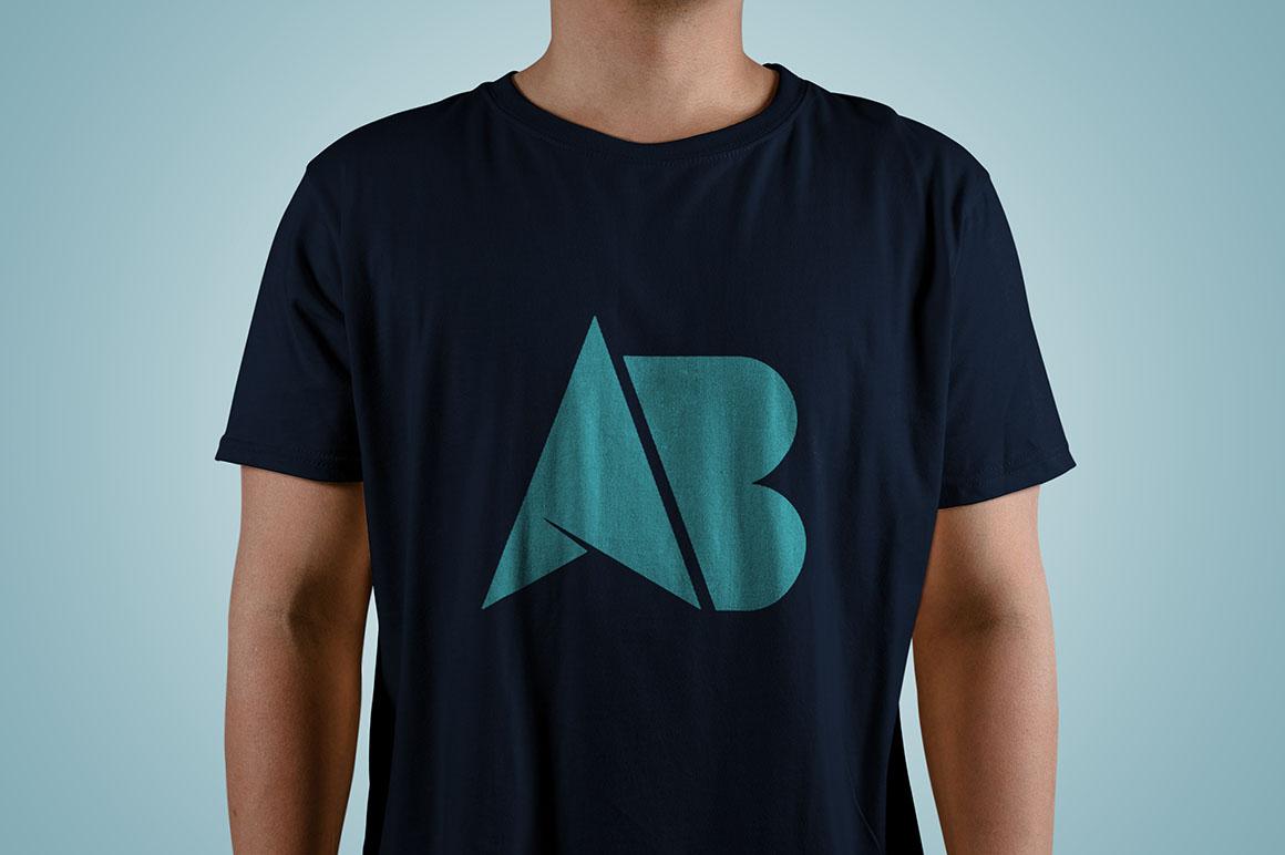 Cool Young Man T-Shirt Mockup